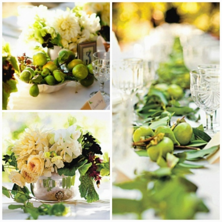 fruits foliage florals centerpiece