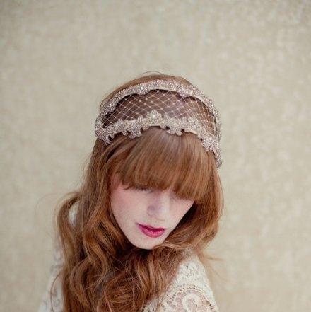 bridal lace headband