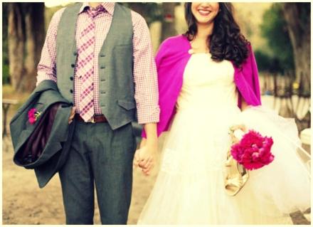 fuchsia bridal cardigan