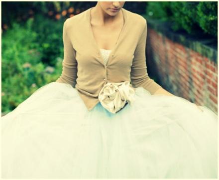 beige bridal cardigan