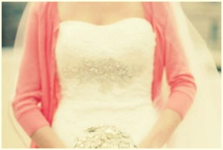 pastel pink bridal cardigan