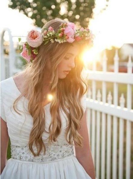 bridal floral crown 10