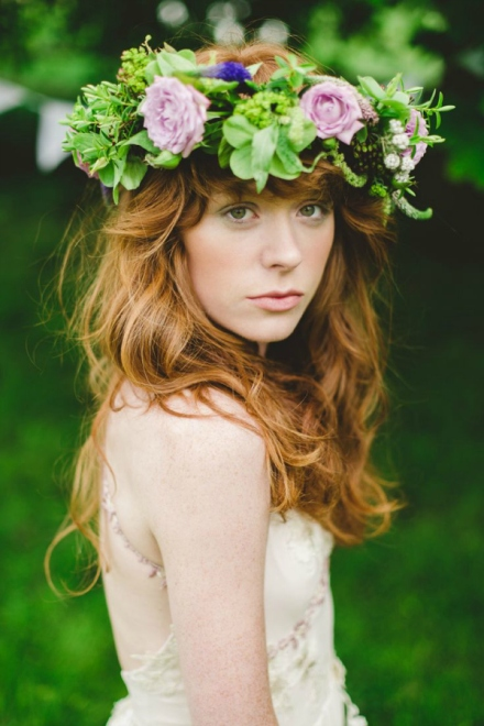 bridal floral crown 13