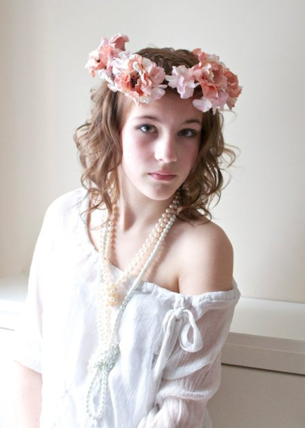 bridal floral crown 17