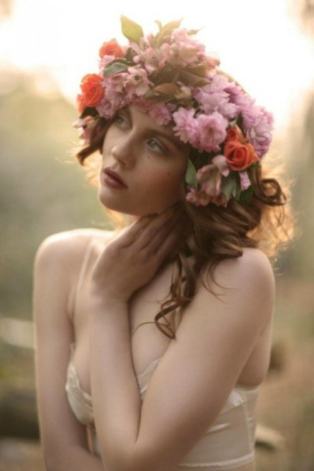 bridal floral crown 5