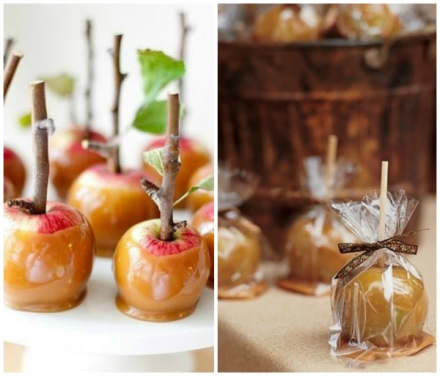 candy apple fall favors