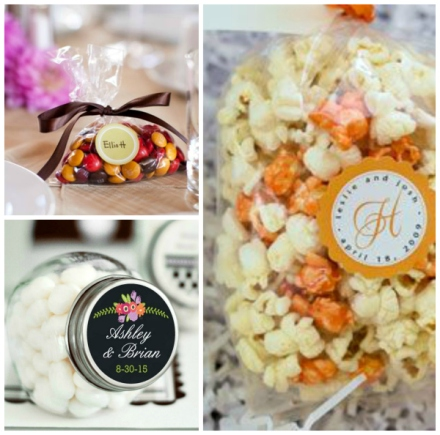 candy fall wedding favor