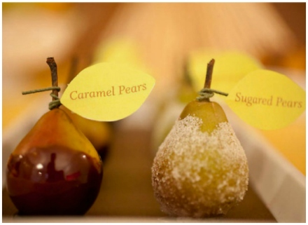 candy pear fall favors