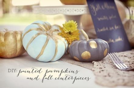 diy painted wedding pumpkins