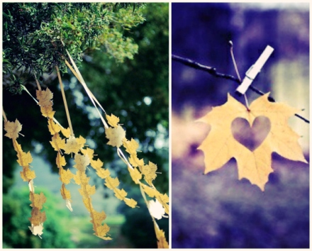 fall wedding leaf decor 11