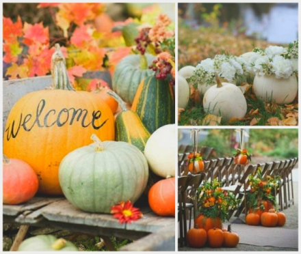 pumpkin outdoor wedding decor