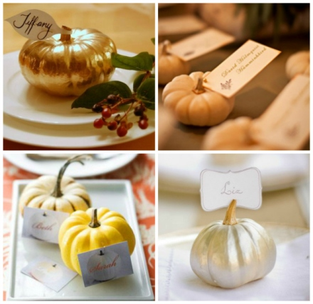pumpkin wedding placecards