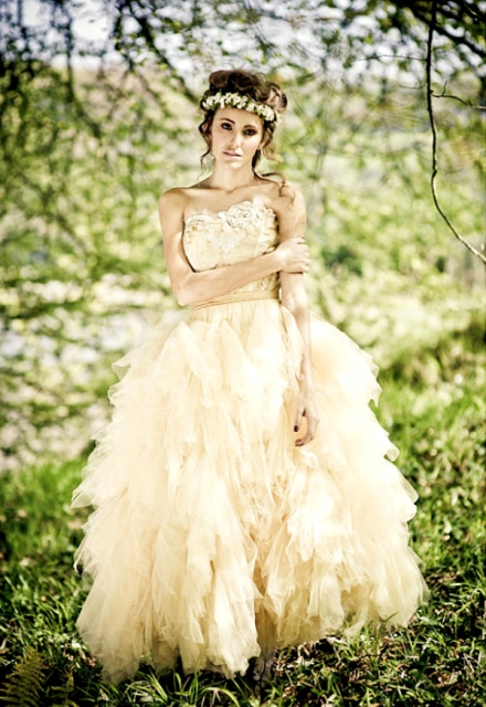ruffled wedding dress 1