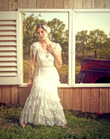 ruffled wedding dress 3
