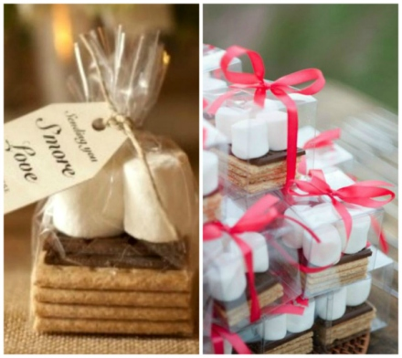 smores fall wedding favor