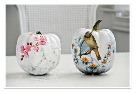 wedding diy  decoupage pumpkin