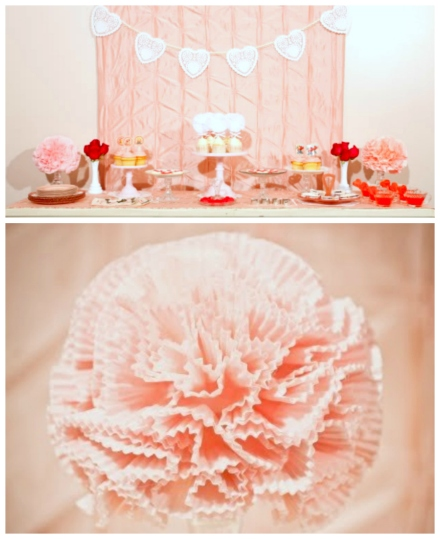 wedding diy paper poms