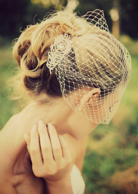 bandeau style Russian veil