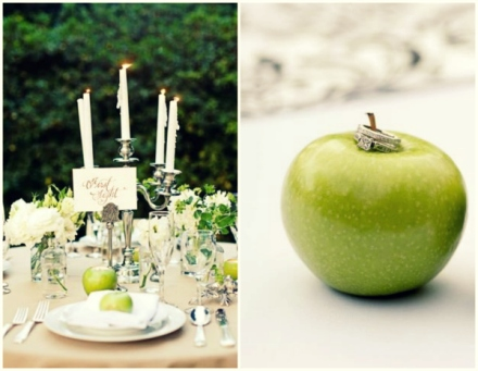 apple green motif
