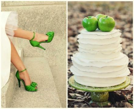 apple green wedding 1