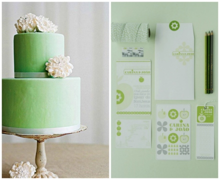 apple green wedding 3