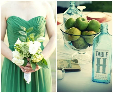 apple green wedding 4