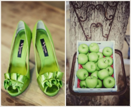 apple green wedding 5