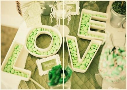 apple green wedding favor