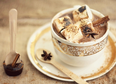 diy spiced hot chocolate on a stick