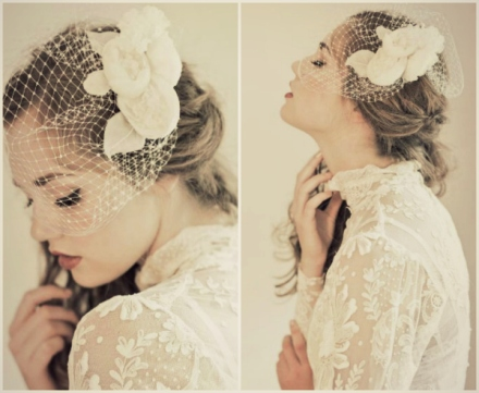 Enchanted Atelier fall winter 2013 birdcage veil