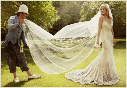 Kate Moss wedding gown