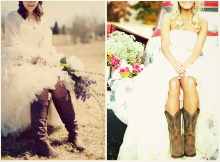 country brides in boots