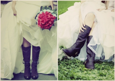 brides in boots